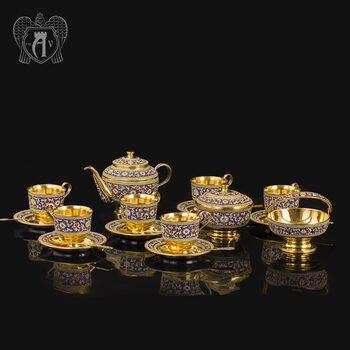 Серебряный сервиз чайный «Графский»
