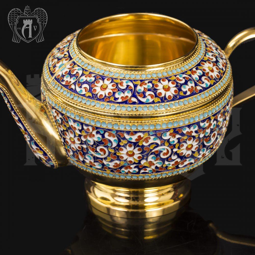 Серебряный сервиз чайный «Графский»  Апанде, 111049251