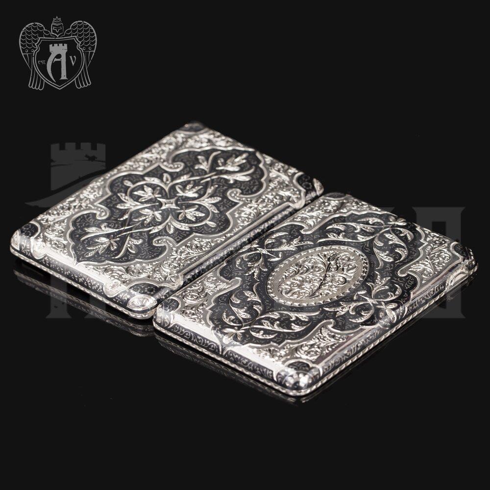Портсигар из серебра «Доминик» Апанде, 53000567