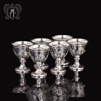 Набор рюмок из серебра  «Монро»
