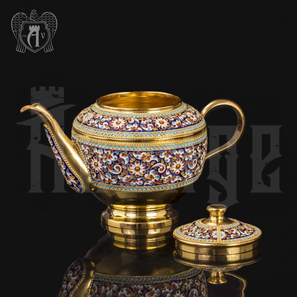 Чайник серебряный заварочный «Графский» Апанде, 2500010