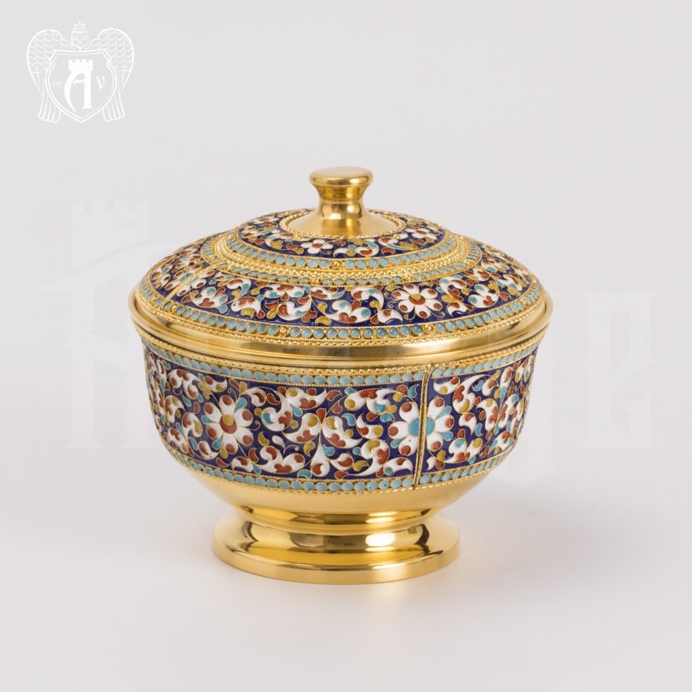 Серебряная сахарница «Графская» Апанде, 350003153