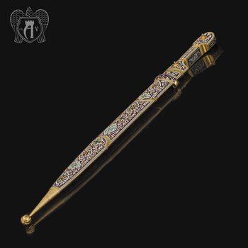 Кинжал из серебра с позолотой и эмалью «Царский»