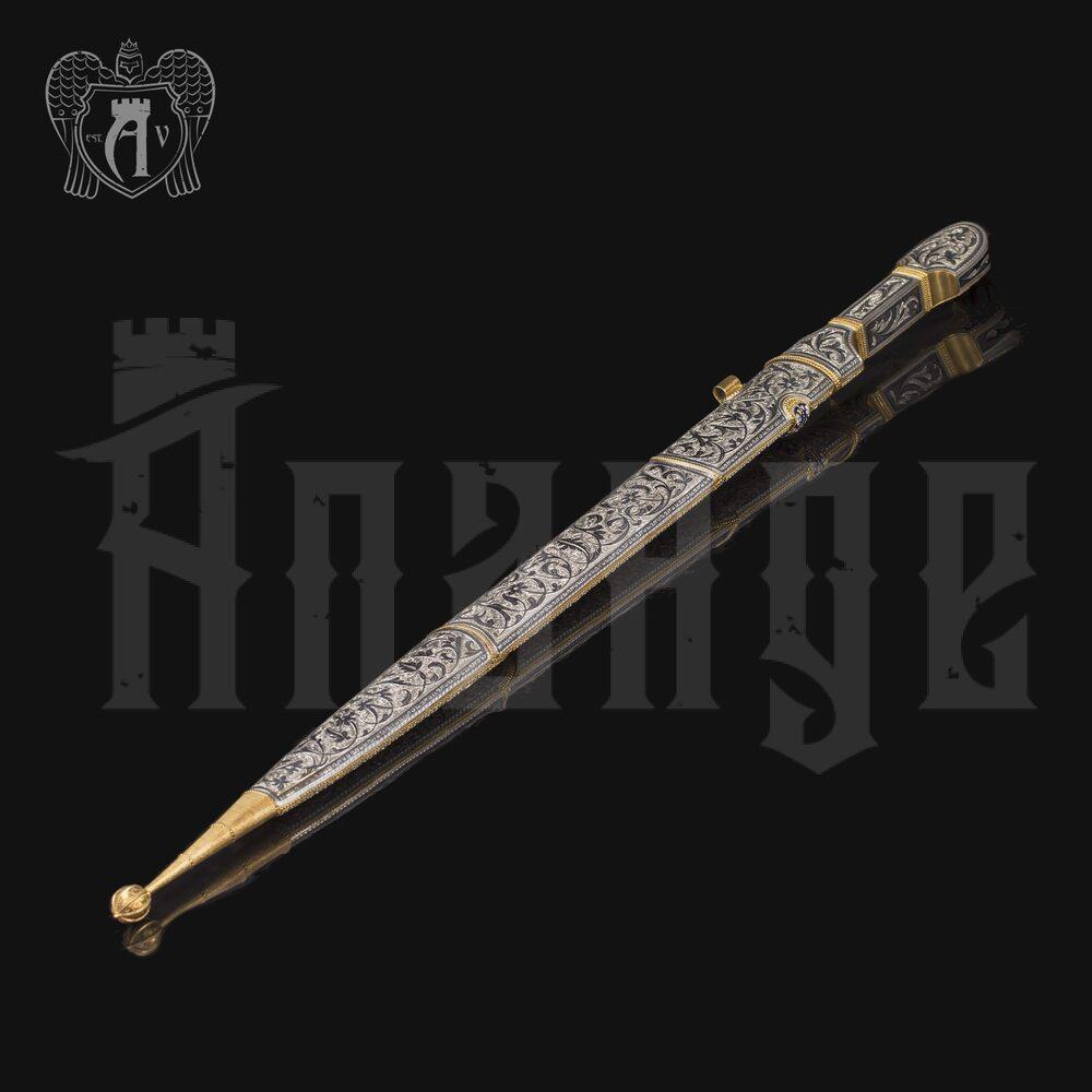 Кинжал из серебра с позолотой и эмалью «Царский»  Апанде, 4500063