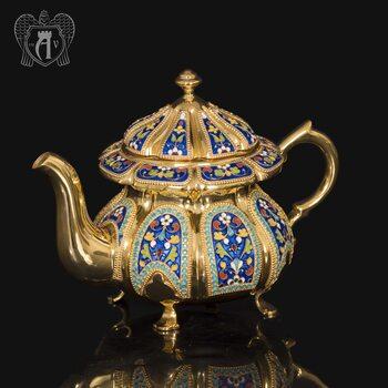 Заварочный чайник серебряный «Наполеон»