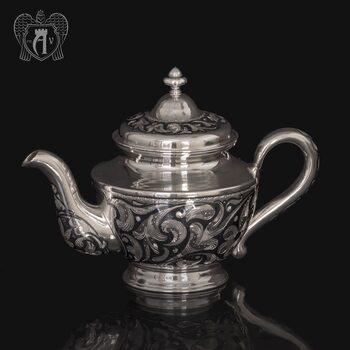 Серебряный чайник  «Эдельвейс»