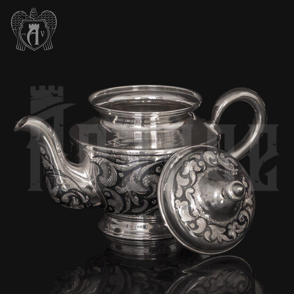 Серебряный чайник  «Эдельвейс» Апанде, 2500014
