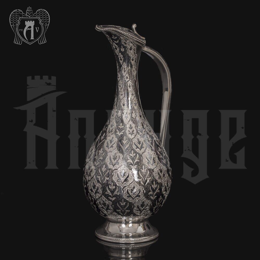 Кувшин для вина из серебра  «Кубачинка» Апанде, 5400077