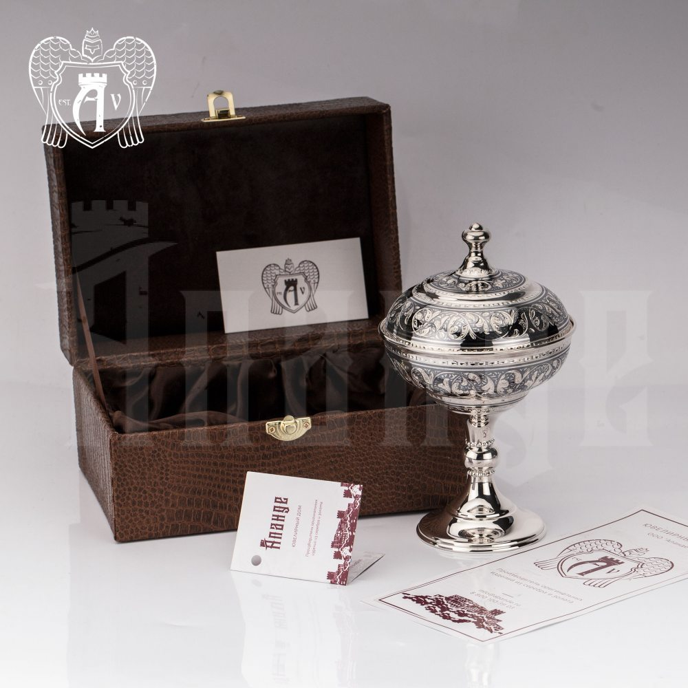 Серебряная икорница\креманка  «Триумф»  Апанде, 270005