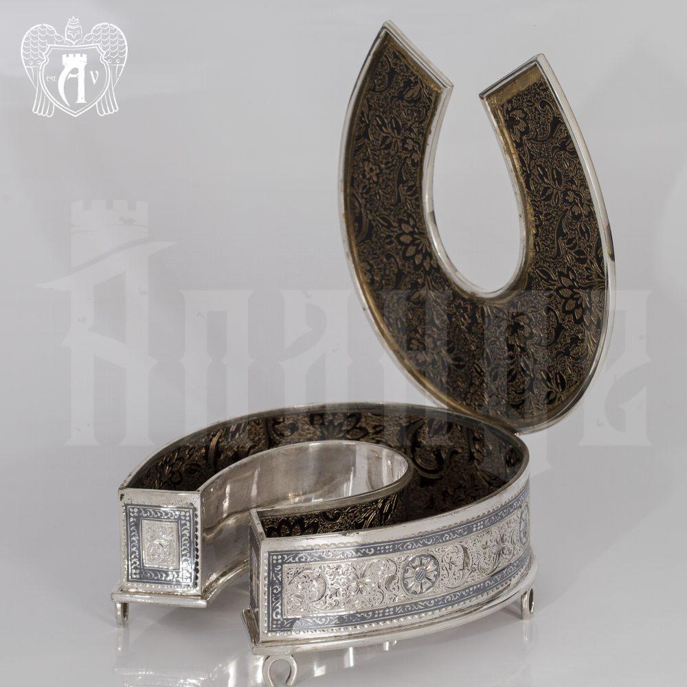 Серебряная шкатулка ручной работы «Подкова»  Апанде, 84000429