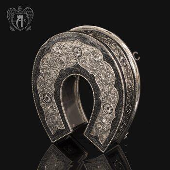 Серебряная шкатулка ручной работы «Подкова»
