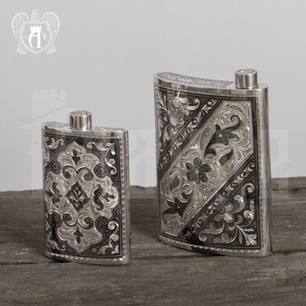 Серебряная фляжка  «Этнос»  Апанде, 72000188