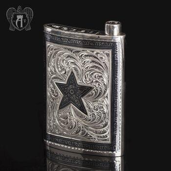 Серебряная фляжка  «Звезда»