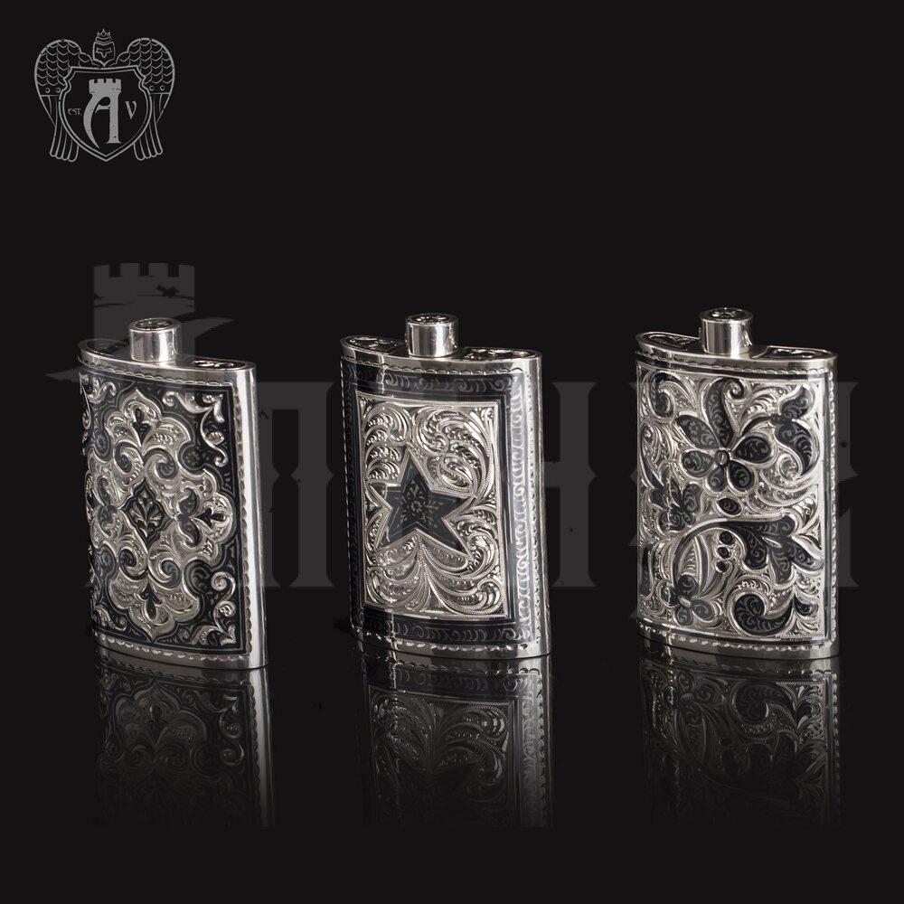 Маленькая фляжка из серебра  «Вьюн»  Апанде, 72000186