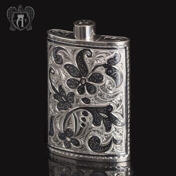 Маленькая фляжка из серебра  «Вьюн»