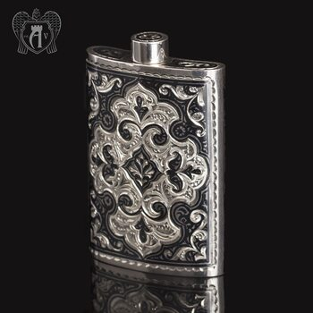 Серебряная фляжка  «Персей»