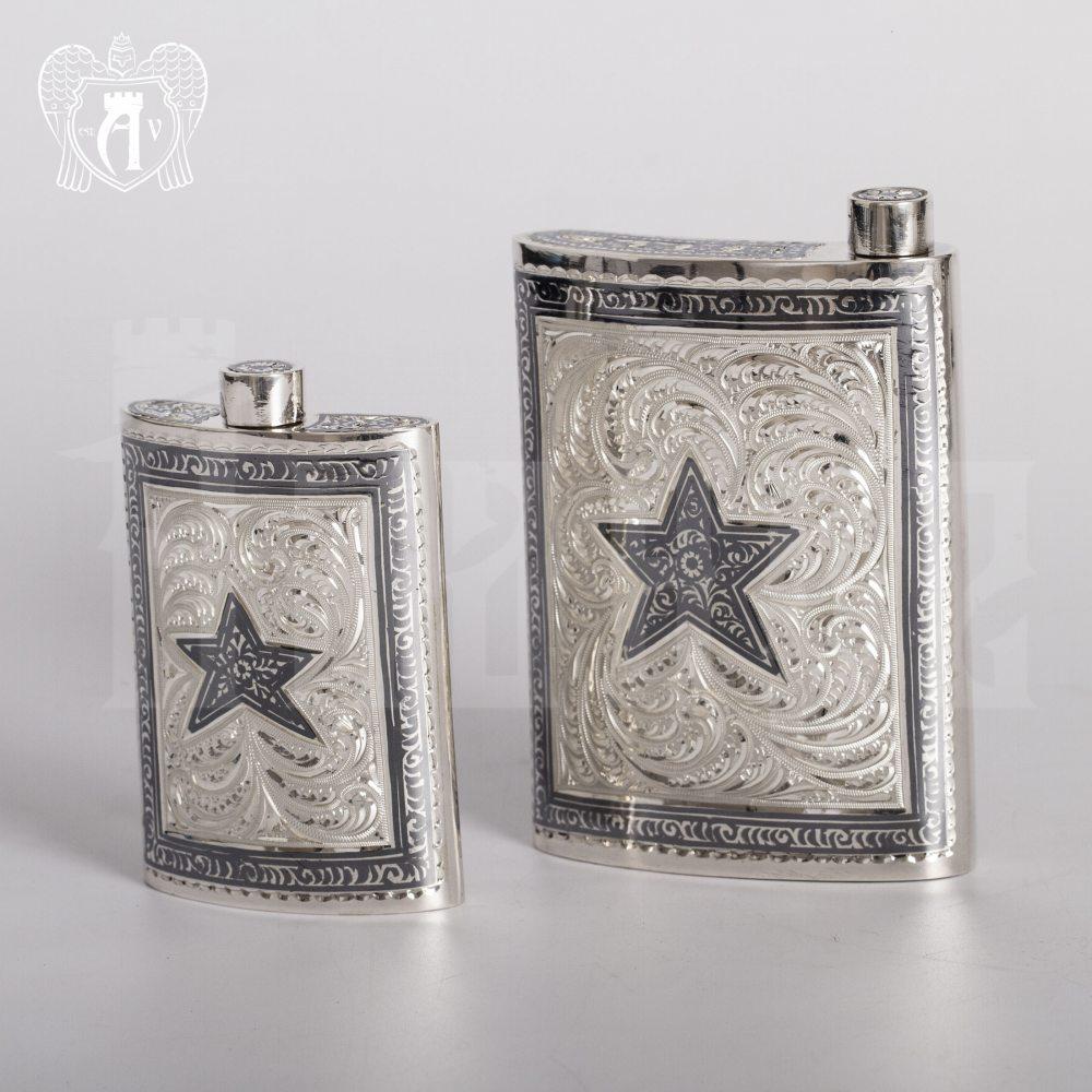 Серебряная фляжка  «Звезда» малая Апанде, 72000184
