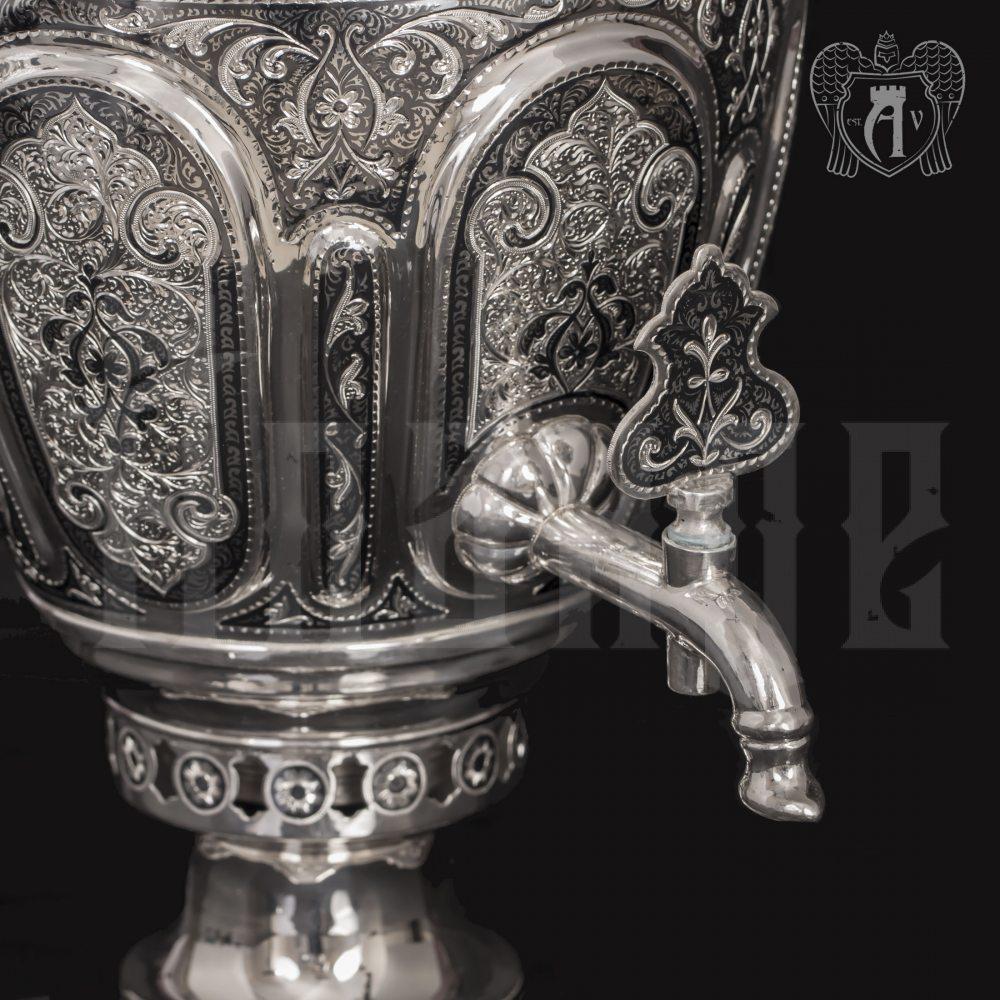 Серебряный самовар «Исполин» Апанде, 940006