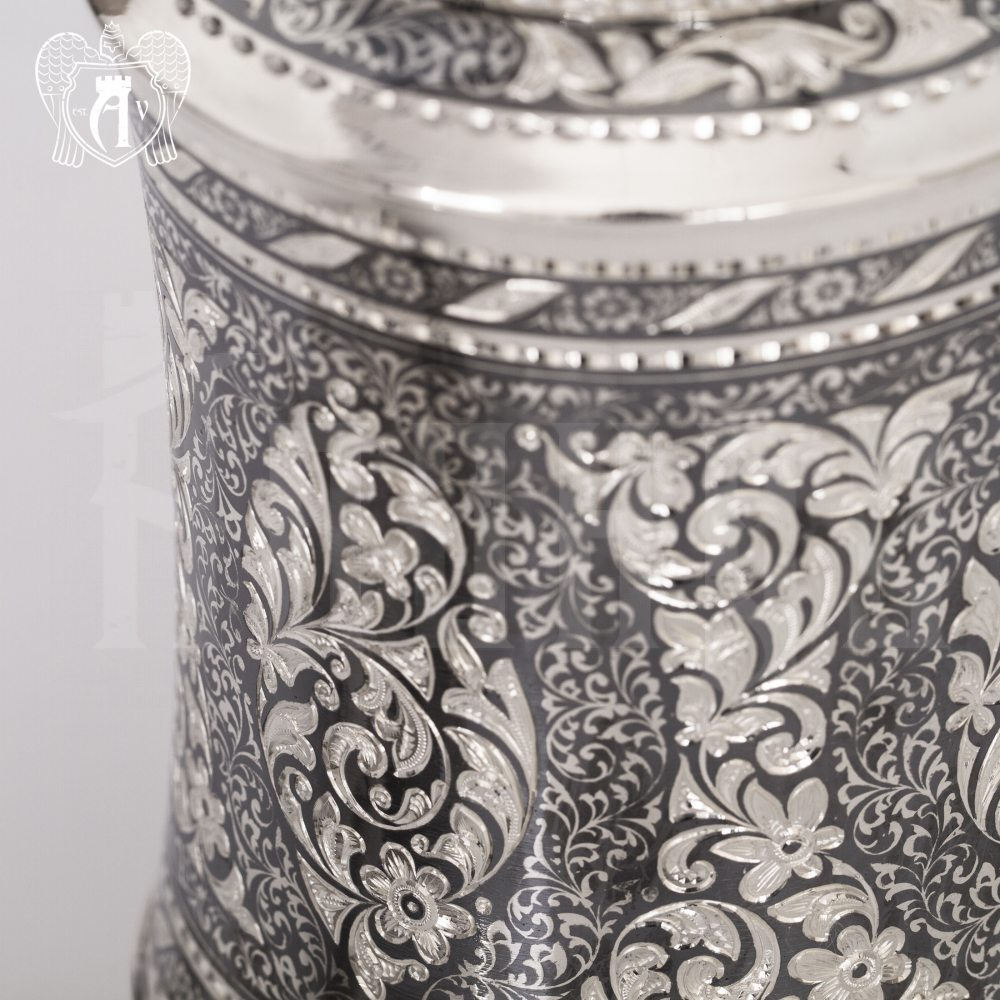 Штоф (графин) из серебра для виски «Кальвадос» Апанде, 5400512