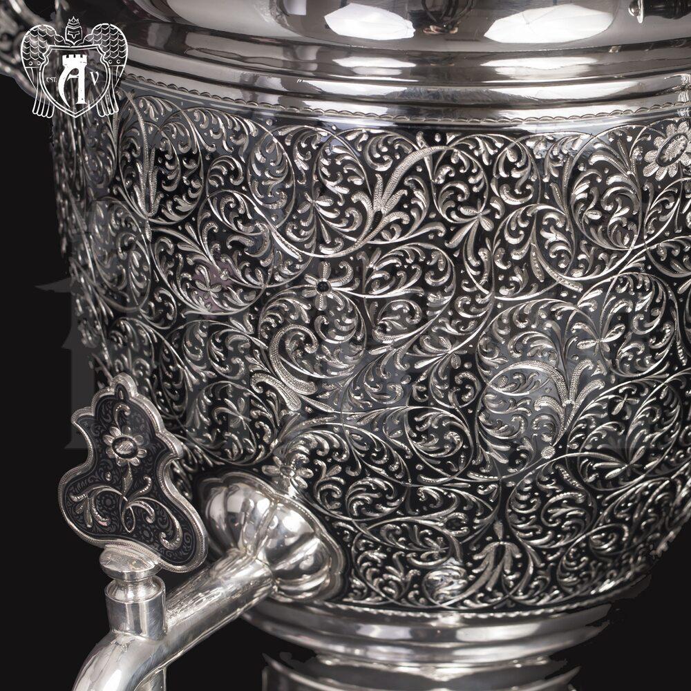 Серебряный самовар «Византия»  Апанде, 940009