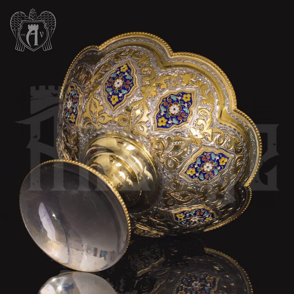 Конфетница из серебра для фруктов и сладостей «Королевская» Апанде, 5200013