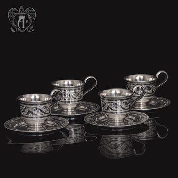 Набор кофейных чашек  «Кофеман»