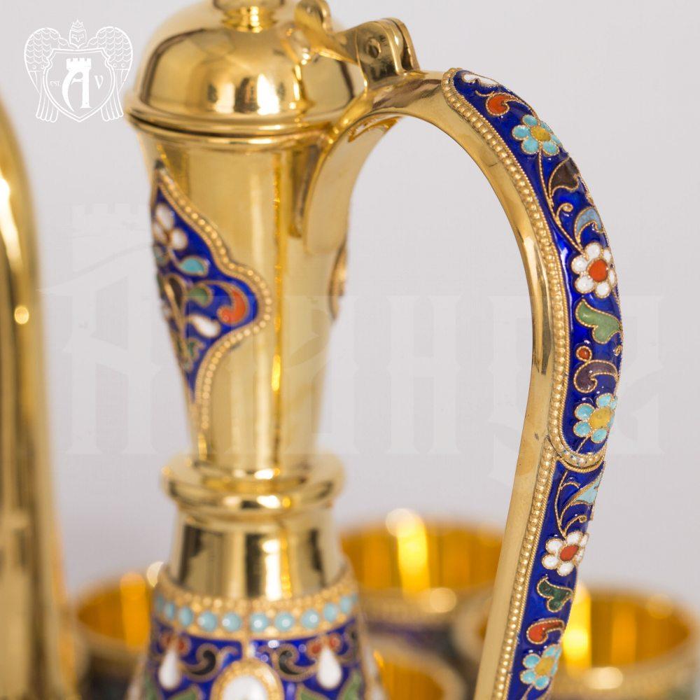 Кувшин из серебра для коньяка с эмалью «Сильмариллион» Апанде, 54000126