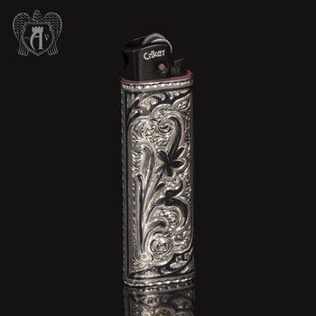 Зажигалка из серебра  «Этнос»
