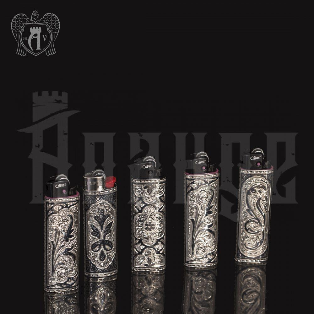 Зажигалка из серебра  «Этнос» Апанде, 5500014