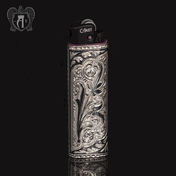Зажигалка серебряная  «Тесей»