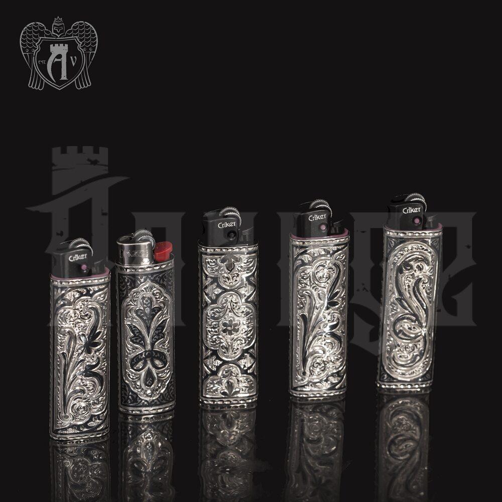 Зажигалка серебряная  «Тесей» Апанде, 5500020