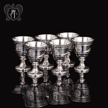 Набор серебряных рюмок «Дориан»