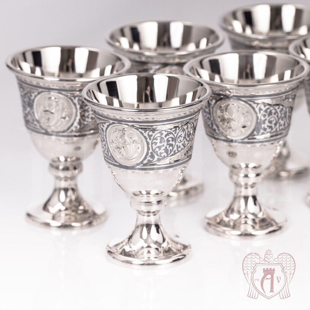 Набор серебряных рюмок «Дориан»  Апанде, 111003140