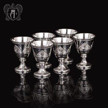 Набор серебряных рюмок «Гораций»
