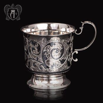 Большая кружка из серебра для напитков  «Тирион»