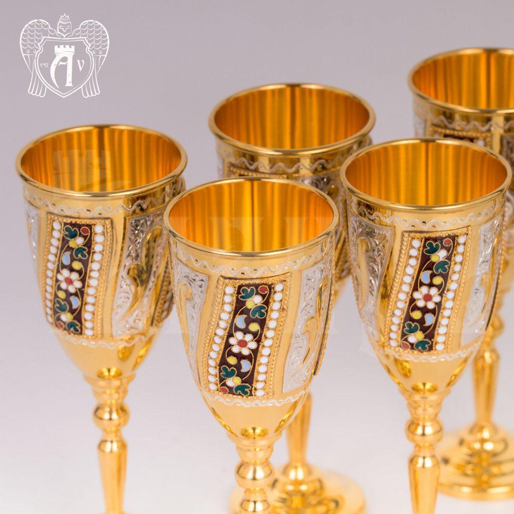 Винный сервиз из серебра с позолотой и эмалью «Борджиа» Апанде, 111005355