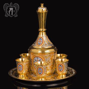 Серебряный водочный сервиз «Лорд»