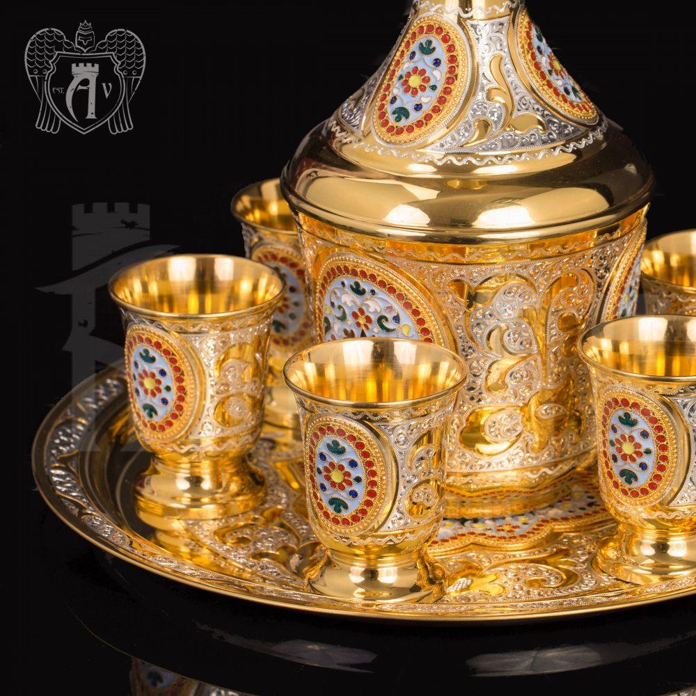 Набор серебряных стопок «Лорд»  Апанде, 111003139