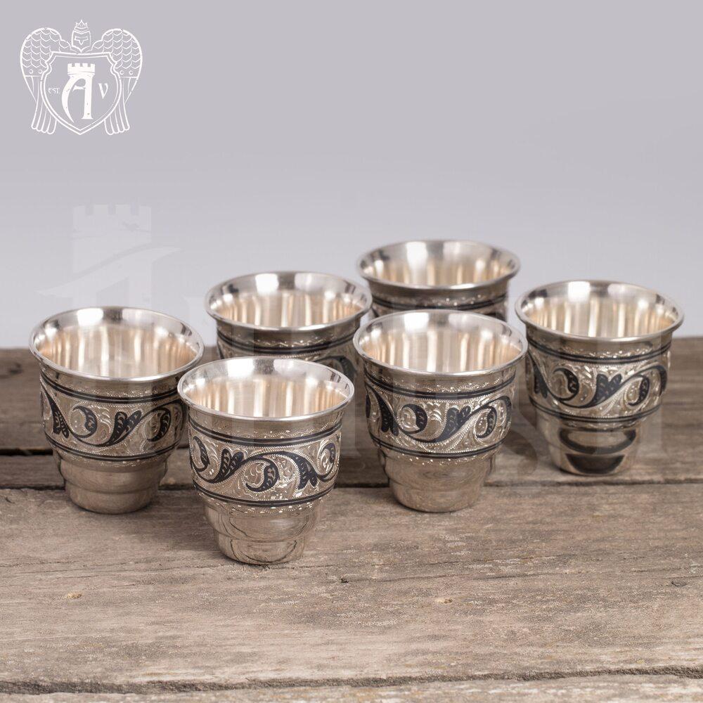 Набор серебряных стопок «Барон»  6 шт Апанде, 111003131