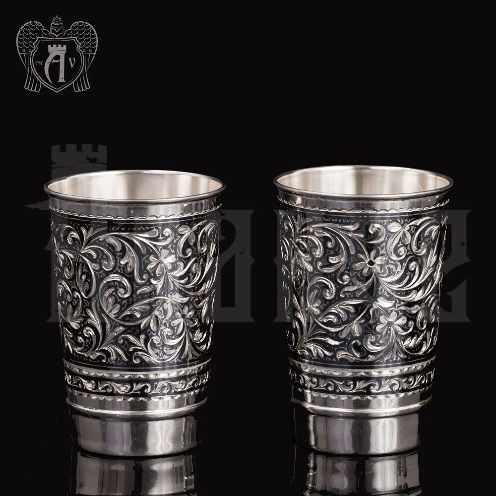 Набор больших стаканов из серебра  «Леонардо» Апанде, 71000442