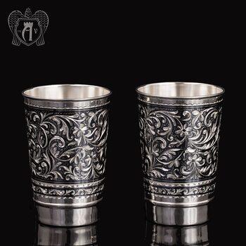 Набор больших стаканов из серебра  «Леонардо»