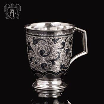 Большая кружка из серебра для напитков  «Монреаль»