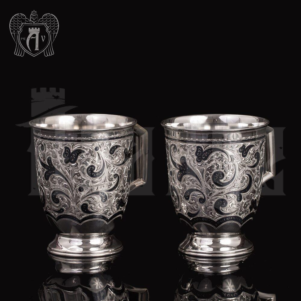 Набор больших кружек  из серебра для напитков  «Монреаль» Апанде, 32009128