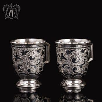 Набор больших кружек  из серебра для напитков  «Монреаль»