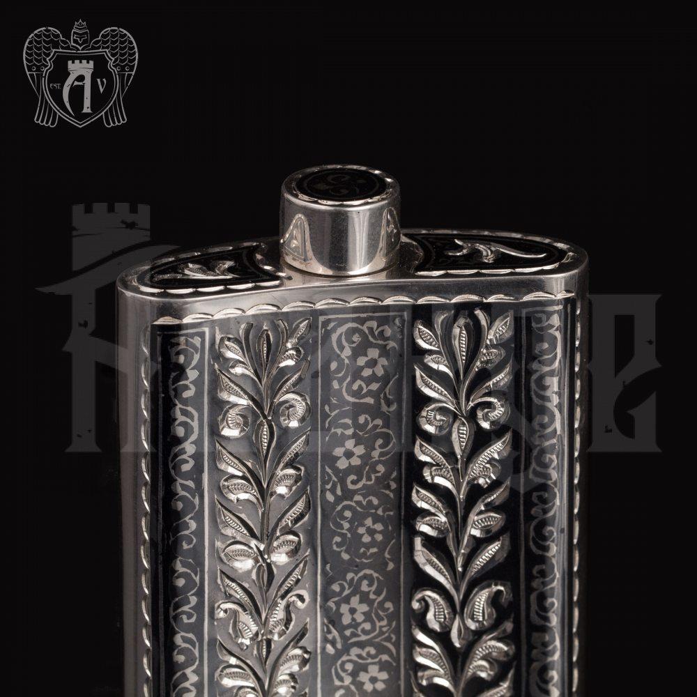 Серебряная фляжка маленькая «Тесей»  Апанде, 72000184