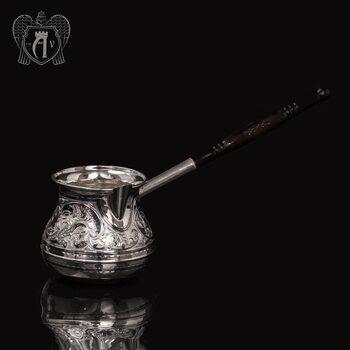 Большая турка серебряная «Тамарис»