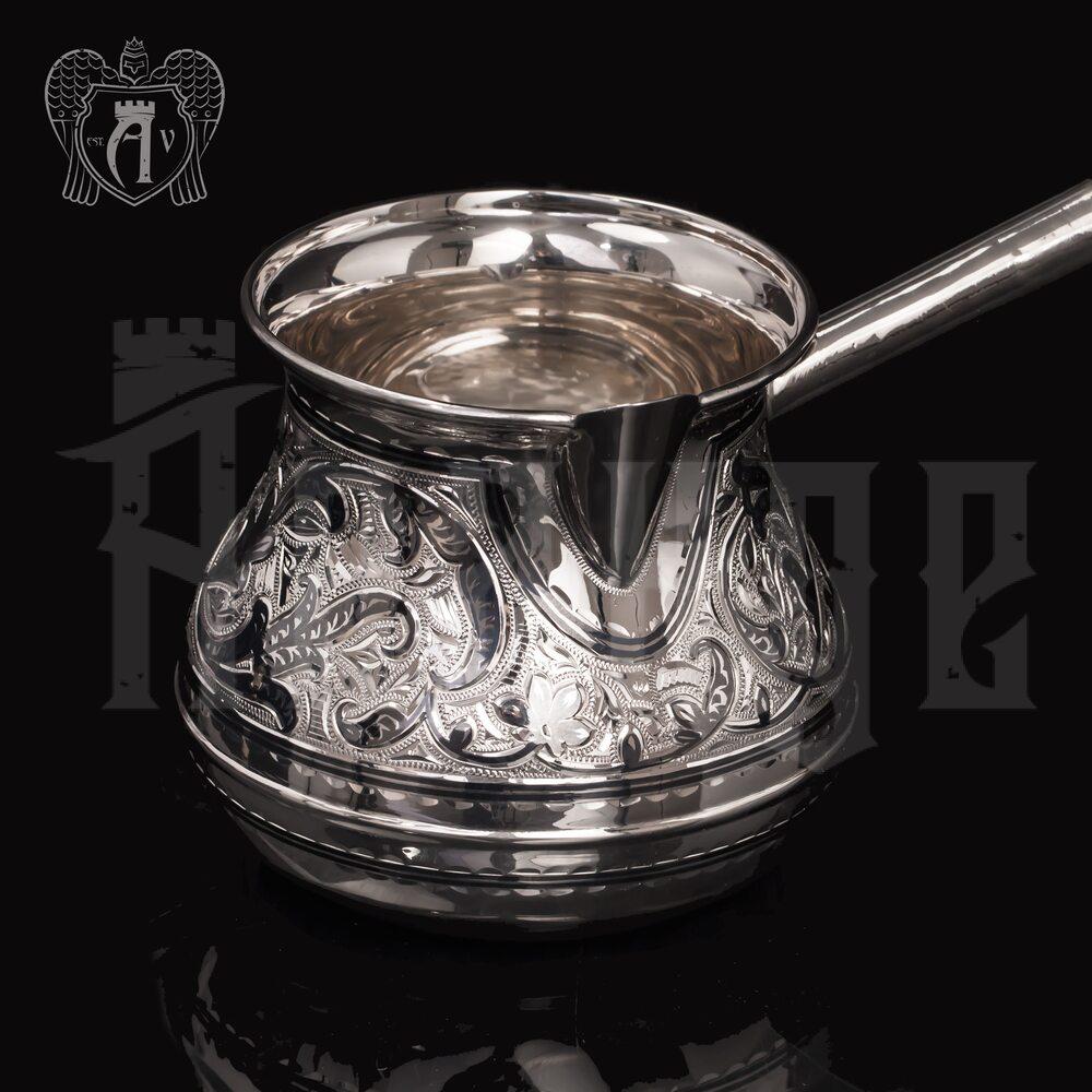 Большая турка серебряная «Тамарис» Апанде, 3900013