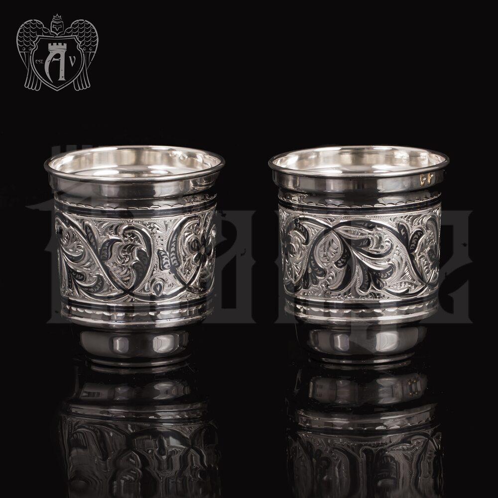 Набор стаканов из серебра  «Фордевинд» 925 пробы Апанде, 71000446