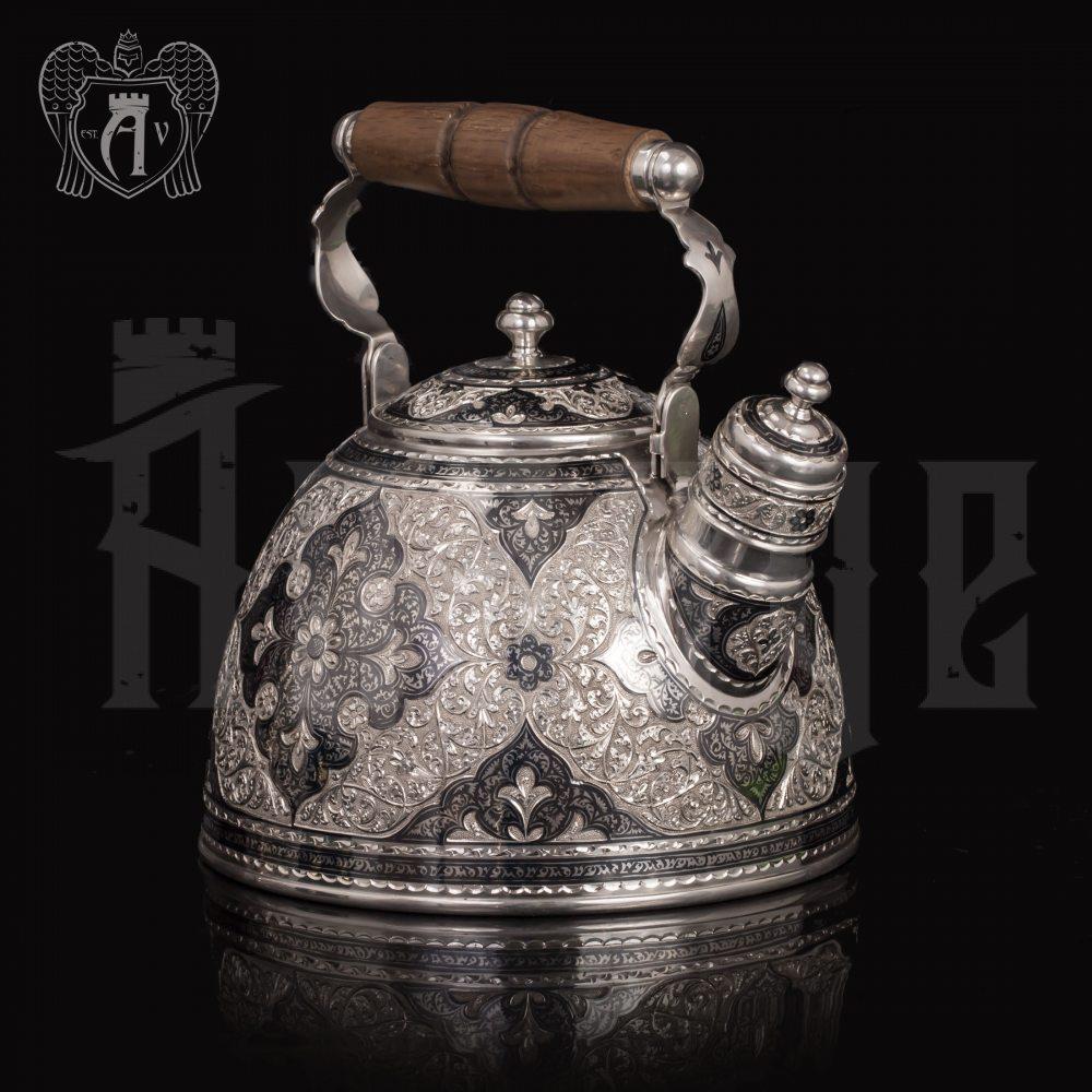 Серебряный чайник для кипячения «Флоранж» Апанде, 2500034