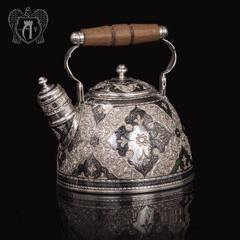 Серебряный чайник для кипячения «Флоранж»